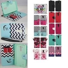 For LG G Vista VS880 Cell Phone Case Hybrid PU Leather Wallet Pouch Flip Cover