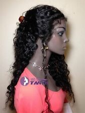 """14""""-24"""" Lace Front/Full Wig Curly 100% Indian Remy Human Hair Wig with Baby Hair"""