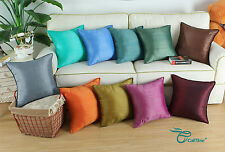 "18"" X 18"" Cushion Covers Pillows Shell Striped Dyed Teal Gold Orange Brown Decor"