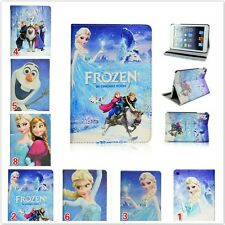 New Frozen Princess Elsa&Anna PU Leather Flip Cover Case For Apple iPad Series
