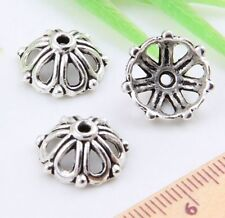 Wholesale40/80Pcs Tibetan Silver(Lead-Free)  Bead Caps  14x6mm
