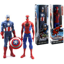Gift Marvel Hero Series Captain America Avengers & SPIDER-Man Action Figure Toys