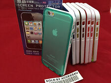 TRANSPARENT CLEAR AQUA BLUE SILICONE GEL HYBRID CASE FOR APPLE IPHONE 6 PLUS 5.5