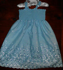 SZ 0 BLUE (choices) COTTON SHIRRED TOP DRESS HANDMADE IN AUSTRALIA  BRAND NEW