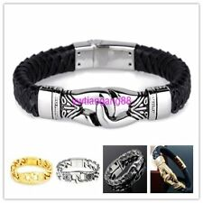Multi-choose High Quality 316L Stainless Steel Bracelet Mens Punk Gothic Jewelry