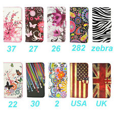 Wallet Flower Design Stand Leather Case Cover For Alcatel One Touch Pop C5 5036D
