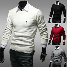 Casual Men's Slim Fit V-neck Knitted Cardigan Pullover Jumper Sweater Tops Tee