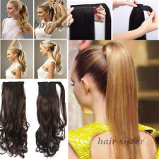 mega long Clip In Hair Extension wrap around clip on ponytail hair US SELLER t78