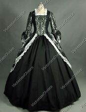 Marie Antoinette Victorian Brocade Period Dress Theatre Quality Reenact Gown 164
