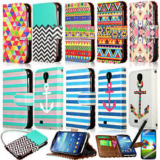 Luxury PU Leather Flip Wallet Case Stand Smart Cover For Samsung Galaxy S4 i9500