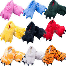 Sale Unisex Cosplay Plush Slippers Monster Animal Paw Warm Indoor Slippers Shoes