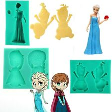 Frozen Elsa Anna Olaf Silicone Mold Cake Christmas Decoration Tool Cookie Cutter