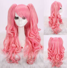 New Fashion Curly Lolita Hairstyle Anime Cosplay Party Wigs With 2 Ponytail Wig