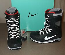 NEW NIKE ZOOM KAIJU SNOWBOARDING BOOTS 376276-001 RETRO BLACK/CEMENT/RED $350