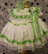 DREAM 18-24 MONTHS ROMANY GIRLS LIME GREEN DRESS HBD PETTICOAT