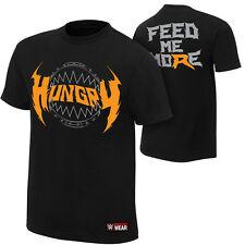 Ryback Hungry Feed Me More WWE Authentic Mens Black T-shirt