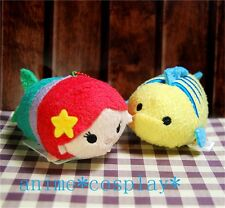 "Mini The Little Mermaid: Ariel Flounder Tsum Tsum 3.5"" Plush Doll Toy XMAS GIFTS"