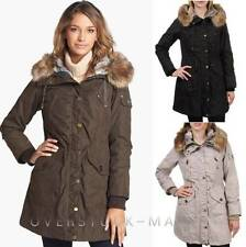 NEW WOMEN'S 1 MADISON ANORAK PARKA! HOODED! FAUX FUR TRIM REMOVABLE VARIETY $318