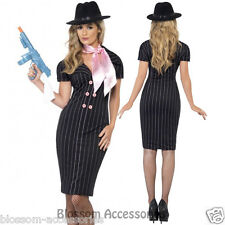 CL187 Gangster's Moll Costume Mafia Moll Womens 1920's Razzle Party Fancy Dress
