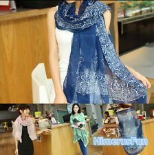 LADIES FASHION LONG SCARF WIDE WRAPS WOMEN VISCOSE AUTUMN WINTER SCARVES SHAWL