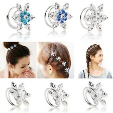 1pcs/2pcs/5pcs Frozen Snow Queen Elsa Wedding Bridal Spiral Crystal Hair Pins