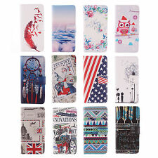1X For Various LG Phones Classic Pu Leather Stand Flip Card Purse Cover Case #E4