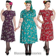 RKP47 Hell Bunny Birdy 50's 40s Wartime Retro Vintage Pin Up Rockabilly Dress