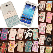Cute & Sweet PU Leather Sleeve Case + Strap for Samsung Galaxy Mega 5.8 i9150