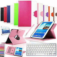 360 Rotating Leather Case Cover Bluetooth Keyboard For Samsung Galaxy Tab 3 10.1