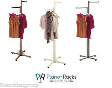 Planet Racks Boutique Shop 2 Way Straight Arm Apparel Display - 3 Colors
