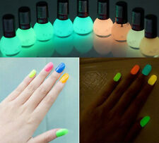 Glow in the Dark Nail Art Manicure Fluorescent Polish Varnish Lacquer Paint MJUF