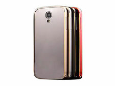 Aluminum Bumper Frame Acrylic Mirror Back Cover Case For Samsung S4 i9500