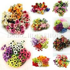 Party Home Wedding Bridal Craft Silk Flowers Leaf Artificial Decoration Bouquet