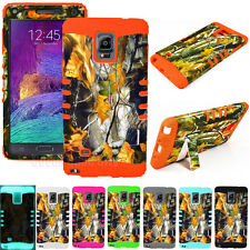 Dry Leaves Camouflage Impact Hard Kickstand Cover Case for Samsung Galaxy Note 4