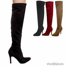 New Women Fashion Ankle Straps Stiletto Knee High Heel Platform Dress Boots