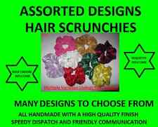 Handmade Quality Hair Scrunchies. Sparkle,Lycra,Glitter,Lace,Gingham,Velvet ETC!