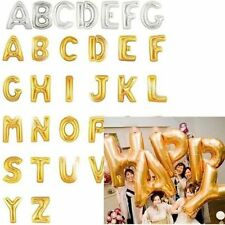 "40"" Foil Helium Balloon Gold Silver Letter Alphabet Party Birthday Wedding Decor"