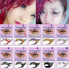 Pretty 1 PCS Sexy Eyes Sticker Crystal Tattoos For Valentine's Day Present Gift