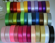 22 Metres of Satin Ribbon Craft Supplies Crafts 30Colors -15mm-25 Yards rolls
