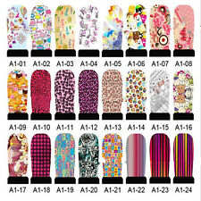 24 Styles Hot Selling Fashion Nice Nail watermark nail stickers of A series