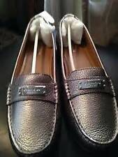 New COACH Fredrica Loafer Metallic Pebbled Grain Leather Moccasin Flats 5 - 11