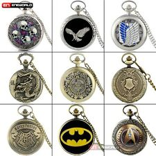 Retro Steampunk Antique Pocket Watch Chain Quartz Pendant Necklace Luxury Gift
