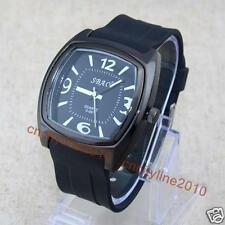 New Dress Watches Square Dial Silicone Men Boy Jelly Rubber Quartz Wrist Watches