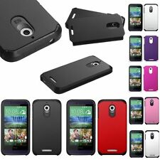 Color Shockproof Dual Level Hard Case Cover for HTC Desire 510
