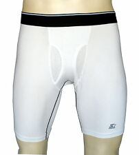 "Men's  Sports boxer brief inseam 9""/ compression underwear/white/#A"
