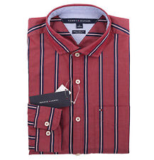 Tommy Hilfiger Men Long Sleeve Button Down Stripe Casual Shirt - New York Fit