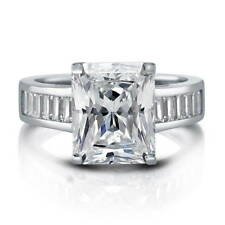 BERRICLE Sterling Silver Radiant Cut CZ Solitaire Engagement Ring 6.25 Carat