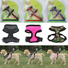 Dog Cat Pet Harness Strap Mesh Adjustable Vest Breathable Puppy Collar Leash