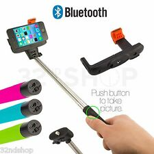 NEW Selfie Stick Telescopic Monopod With Shutter Button iPhone Compatable