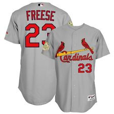 David Freese St Louis Cardinals Authentic 2011 World Series Grey Road Jersey